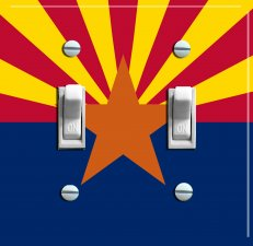 ARIZONA State Flag Double Switch Plate