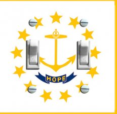 RHODE ISLAND State FLAG Double Switch Plate