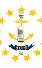 RHODE ISLAND State FLAG Single Switch Plate
