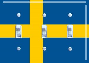 SWEDEN Flag Triple Switch Plate
