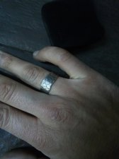 Hammered Down Pattern Ring-925 Silver Handmade Special Design Wedding Ring
