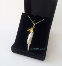 Parrot Necklace-Sterling Silver Parrot Necklace