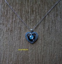 BMW Blue Love necklace.-Special Design BMW Love Necklace with Blue Swarovski