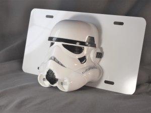 Star Wars Storm Trooper Custom 3D license plate