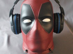 Deadpool life size HD Head / headphone stand / VR headset stand