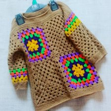 Handmade spring sweater for girls 5-6 years old.