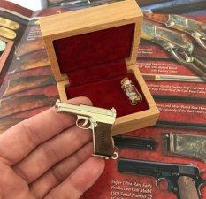 2mm pinfire gun Mauser 7.65 with wood grips