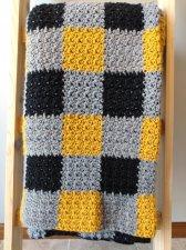 Black and Gold Crochet Blanket