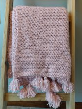 Pink and Pearls Crochet Modern Blanket
