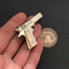 2mm pinfire gun Colt 1911 with bone grips