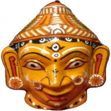 Papier Mache Mask of Goddess Durga