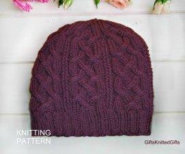 KNITTING PATTERN Hat for Women, Hand Knit Hat Pattern, Easy Knitting Patterns for Hat, Knit Hat Pattern