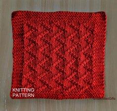 KNITTING PATTERN Dishcloth, Knit Dishcloth Pattern PDF, Beginner Knit Dishcloth Pattern, Knit Washcloth Pattern