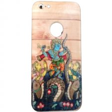 A Krishna Wooden Back Cover Case For Apple Iphone 6 Plus