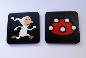 Handmade Amanita coaster set