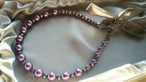 Fashion Hair Accessory Pearl Lilac Headband Imitation Pearls with Crystals