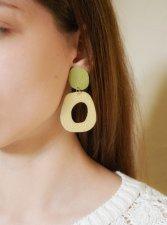 Handmade genuine leather earrings