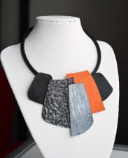 Original necklace made of genuine leather