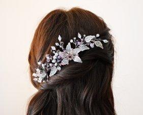 Hair Comb, Flower Hair Vine, Flower Comb, Hair Comb with  Earrings
