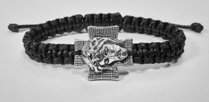 Handmade bracelet with a durable cord. Jesus 1
