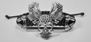Handmade bracelet with a durable cord. Skull 7