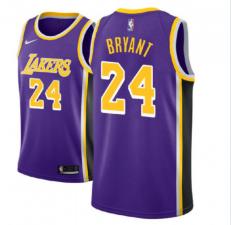 Men's Los Angeles Lakers #24 Kobe Bryant Purple Statement Jersey