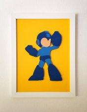 Handmade Mega Man minimalist wood wall art #3