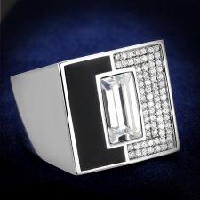 Rhodium 925 Sterling Silver Ring