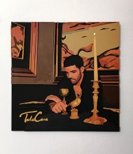 Handmade Drake Take Care album cover wood wall art