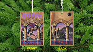 J K Rowling Fantasy Novel Inspired Book Cover Ornaments / Decorations