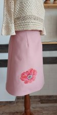 Skirt with embroidery cashmere