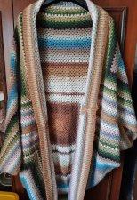 Cocoon coat crochet cardigan cape handmade