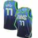 Men's Dallas Mavericks #77 Luka Doncic Blue The City Edition Jersey