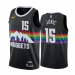 Men's Denver Nuggets #15 Nikola Jokic Black The City Edition Jersey
